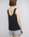 Lace Trim Strapped Tank Top