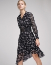 Belted Floral Printed Midi Dress