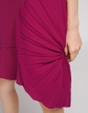 Shift Dress With Contrast Pleated Hem