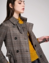 Houndstooth Coat With Pockets