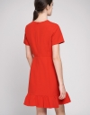 A-Line Dress With Ruffled Panel