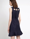 Fitted Lace Dress With Cut-Out Back