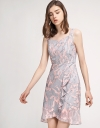 Strappy Lace Dress With Ruffled Hem