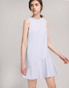 Shift Dress With Asymmetric Flouncy Hem