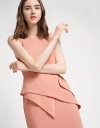 Fitted Dress With Asymmetric Layer