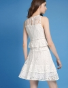 Fitted Lace Dress With Ruffles