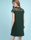 Lace-Trimmed Shift Dress