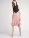 Color Block Lace-Trimmed Dress