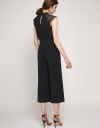 Lace-Trimmed Jumpsuit With Pockets