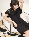 Lace Dress With Button Front