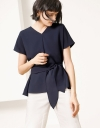 Sleeved Blouse With Belt