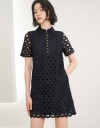 Sleeved Lace Shift Dress