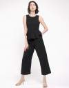 Wide-Leg Jumpsuit With Ruffles