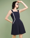 Strappy A-Line Dress With Layered Hem
