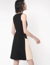 Sleeveless Dress With Contrast Layered Hem