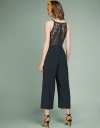 Wide-Leg Jumpsuit With Lace-Trimmed Back