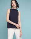 Sleeveless High-Necked Top