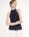 Jacquard Top With Belt