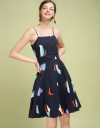 Strappy Floral A-Line Dress
