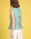 V-Neck Top With Gathered Hem