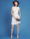 Dotted Dress With Layered Hem