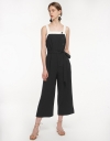 Strappy Wide-Leg Jumpsuit With Belt