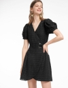 Ribbed Dress With Wrap Front