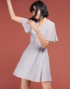 Pleated Dress With Bell Sleeves