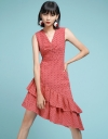 Embroidered Dress With Asymmetric Hem