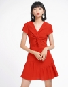 Ribbed Dress With Twisted Front