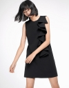 Sleeveless Shift Dress With Ruffled Detail