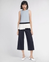 Tied Blouse With Asymmetric Pleated Hem