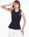 Ribbed Top With Crossover Straps