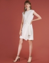 Sleeveless Ribbed Dress With Wrap Front
