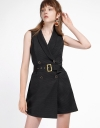 Ribbed Wrap Romper With Belt