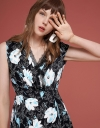 Floral Dress With Lace-Trimmed Detail