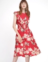 Floral Dress With Smocked Waist