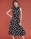 Printed Midi Dress With Tied Back