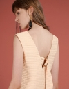 Ribbed Dress With Tied Back