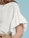 Ribbed Top With Oversized Sleeves