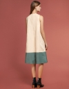 Color Block Drawstring Dress