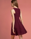 Jacquard Dress With Crossover Straps