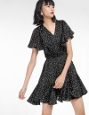 Dotted Dress With Elasticated Waist
