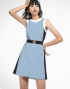 Color Block Dress With Belt