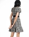 Checked Dress With Flouncy Hem