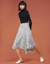 Printed Skirt With Asymmetric Hem