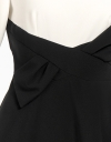 Sleeved Color Block Dress With Knot Front