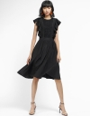 Ruffled Dress With Gathered Hem