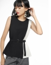 Color Block Belted Top