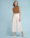 Layered Belted Pants With Elasticated Waist